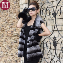 2017 women winter real rex rabbit fur coat Chinchilla style fashion warm soft striped lady natural rex rabbit fur jacket