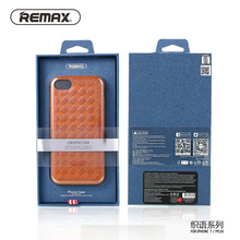 Remax retro weave Designed phone case For Apple iPhone 7 7Plus PU Leather TPU Silicone Case Protective Cover Smooth Touch Sleeve