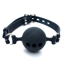 S /M Large Size Full Silicone Ball Gag for Women Adult Game Head Harness Mouth Gagged Bondage Restraints Sex Products Sex Toy(China)