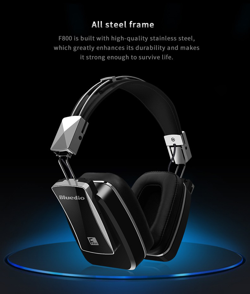 EHome Bluedio F800 Headband Active Noise Cancelling Headset With ANC Wireless Bluetooth Headphones With Mic For Mobile Phone