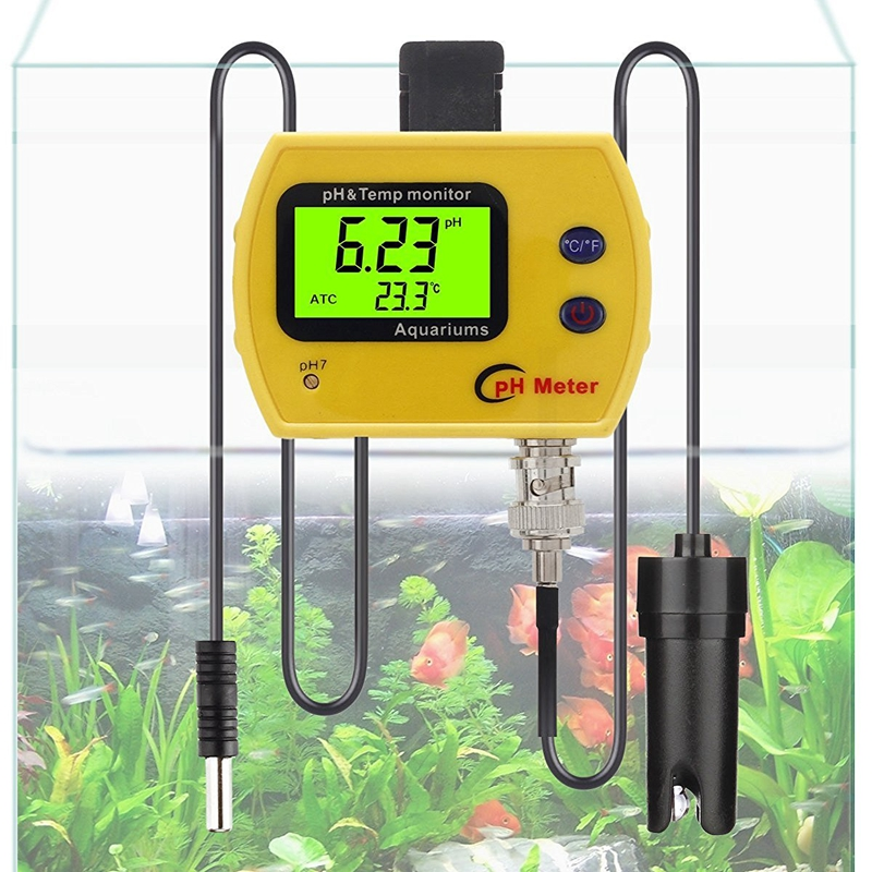 Professional Online pH TEMP Meter Portable Acidimeter Aquarium Fine Drinking Water Quality Monitor 0.01 PH Electrode Analyzer<br>