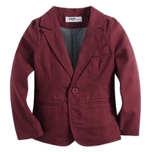 new arrival knitted cotton 100%  toddler BOY blazer BB161104A wine red