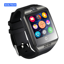 SCELTECH Bluetooth Smart Watch Q18 With Camera Facebook Whatsapp Twitter Sync SMS Smartwatch Support SIM TF Card For IOS Android