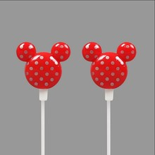 Portable Cartoon Mini Earphone Mickey Mouse Earphone For mp3 player , mobile phone , Tablet