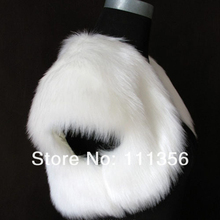 Ivory Black WhiteFaux Fur Bride Wedding Shrug Shawl Bridal Scarf Floss Coat Bolero
