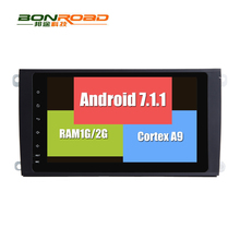 Android 7.1.1 RK3188 2G RAM 2Din Car DVD Player Radio GPS Navigation for Porsche Cayenne 2003-2010 Head Unit Autoradio 4G/WIFI
