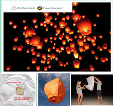Diamond shape 9pcs/lot paper sky lantern flying balloon flashlight biodegradable party/wedding decoration 8 colors free shipping