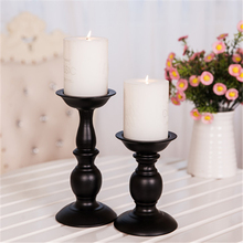 Wrought Candlesticks Iron Candle Holder Wall Retro Lantern Candle Oil Burner Nargile European Antique Candlestick QQX89(China)