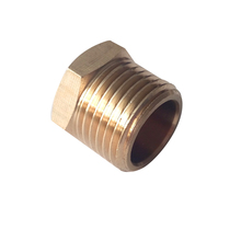 "Brass Pipe Fitting 3/4 "" Male BSP Thread Plug Hex Head BPFBSP-PL-3/4"