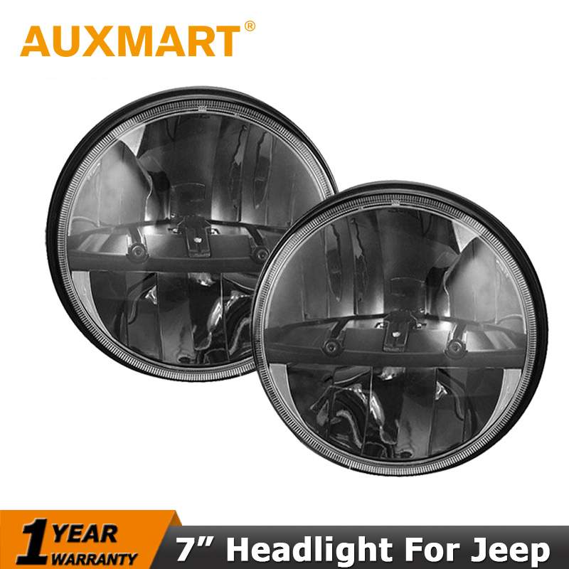 Auxmart 40W/Pair CREE Chips 7 Inch LED Headlight For Jeep Wrangler JK TJ LJ CJ For Hummer H1 H2 LED Driving Head Lamp Hi=Lo Beam<br><br>Aliexpress