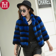 2017 hot sale winter real natural rex rabbit fur coat high quality 100% genuine rex rabbit fur chinchilla color women jacket