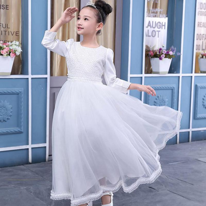 2017 Kids Costume Girls Long Sleeve Dress For Girls Princess Dress Children Wedding Party Clothes Christmas Gift Robe Fille Sale<br>
