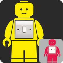 LEGO MAN vinyl decal LIGHT SWITCH PLUG SURROUND bedroom WALL sticker  ART QUOTE kids bedroom DECOR,M2S1