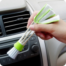 Keyboard Air Brush For Air-condition Louver Instrument Panel Computer Cleaning Tool Cleaning Cloth Double Head Microfiber Washer