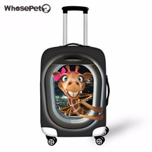 WHOSEPET 3D Giraffe Printing Luggage Protective Cover Animals Zoos Suitcase Case Covers Made For 18-30 Inch Anti-scratch Cover