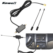 Universal DVB-T ISDB-T 433MHZ Auto Radio Digital Car TV Antenna with Amplifier Signal Car TV Aerial for Volkswagen VW TV-Antenna(China)