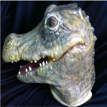 Crocodile masks anime costumes dinosaur masks ferocious animal masks bar parties COS mask(China)