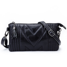 Highquality Brand Design Genuine Leather Hand Bag Shoulder Messenger Bag Small Satchel Tassel Hand Carry Multipurpose Zero Purse