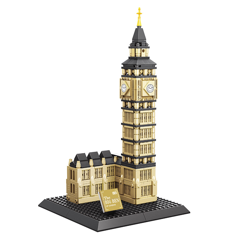 WANGE Mini The Big Ben Of London Architecture Building Blocks Bricks Sets Models 890Pcs DIY Toys For Children Educational Gifts<br>