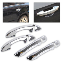DWCX Exterior Car-Styling Chrome Door Handle Cover Trim for VW Golf 6 MK6 Skoda Superb 2009 2010 2011 2012