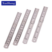 3 PCS Straight Ruler 15cm 6 Inch Double Side 15cm 6 Inch Stainless Steel Measuring Straight Ruler Tool Office Stationery(China)