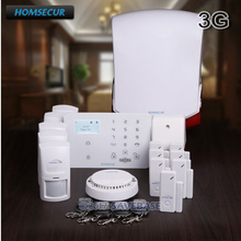 HOMSECUR Wireless&wired WCDMA/GSM Home Security Alarm System with Touch Panel(Russian/Francais/Deutsch Menu Adjustable)(China)