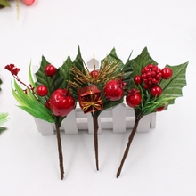 1 Bunny Pine Pine Berry Stamens Christmas Tree Ornaments DIY Clip and Clip Gift Box Decorative Accessories Handmade Crafts(China)