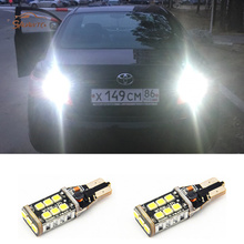 2x Xenon White T15 W16W 921 LED Parking Lamp Canbus Backup Reverse Turn Signal Light For Toyota Corolla Camry Prado(China)