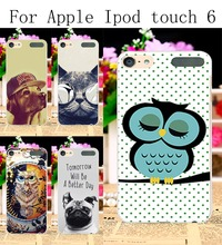 Hard Plastic Phone Cases For Apple iPod Touch 6 6th touch6 Touch 5 5th 5G touch5 Cover Dog\Tiger\Harajuku  Painted Durable Shell