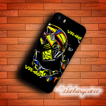 Coque Black Valentino Rossi VR46 Case for iPhone X 8 7 6S 6 5S SE 5 5C 4S 4 Plus Case Cover for iPod Touch 6 5 Case.(China)