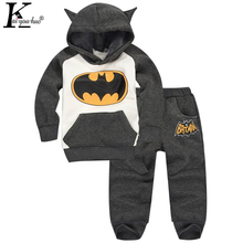 KEAIYOUHUO Girls Sport Suit Baby Boy Clothes Sets Outfit Suits Batman Long Sleeve Tracksuit For Girls Clothing Sets Kids Costume(China)