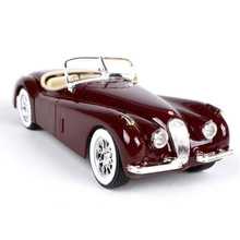 Brand mini 1/24 Scale metal 1951 Jaguar XL 120 Roadster vintage car die cast styling models cars free wheels auto toys for boys