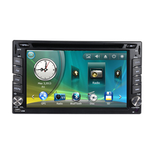 Double Two 2 Din Car Radio DVD GPS Navigation Central Multimedia SD USB RDS IPOD Analog TV Phonebook Bluetooth Handsfree(China)