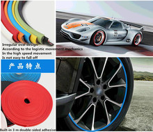8M car styling decoration Tire Rim Hub stickers for dodge Journey Viper Avenger Caliber Challenger Charger Durango accessories(China)