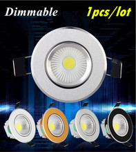 Dimmable Led downlight light COB Ceiling Spot Light 6w 9w 12w 85-265V ceiling recessed Lights Indoor Lighting