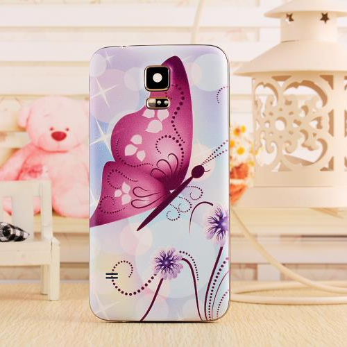 Battery Door Back Cover Samsung Galaxy S4 i9500 Fashionable 3D Relief Patinted Flower Design 16 Colors Available  -  MIJIA Store store