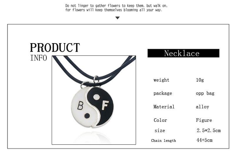 Medium Ying-Yang Symbol BFF Necklaces For 2