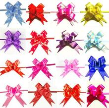 10 Pcs/set Cute Love Heart Print Pull Bows Ribbon Party Wedding Decoration Gift Packaging Packing Wrap