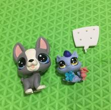 Original Pet cat Dog Shop Figures Toy Puppy Dog cat Doll for Kids Gifts 3-.5cm 2pcs/lot(China)