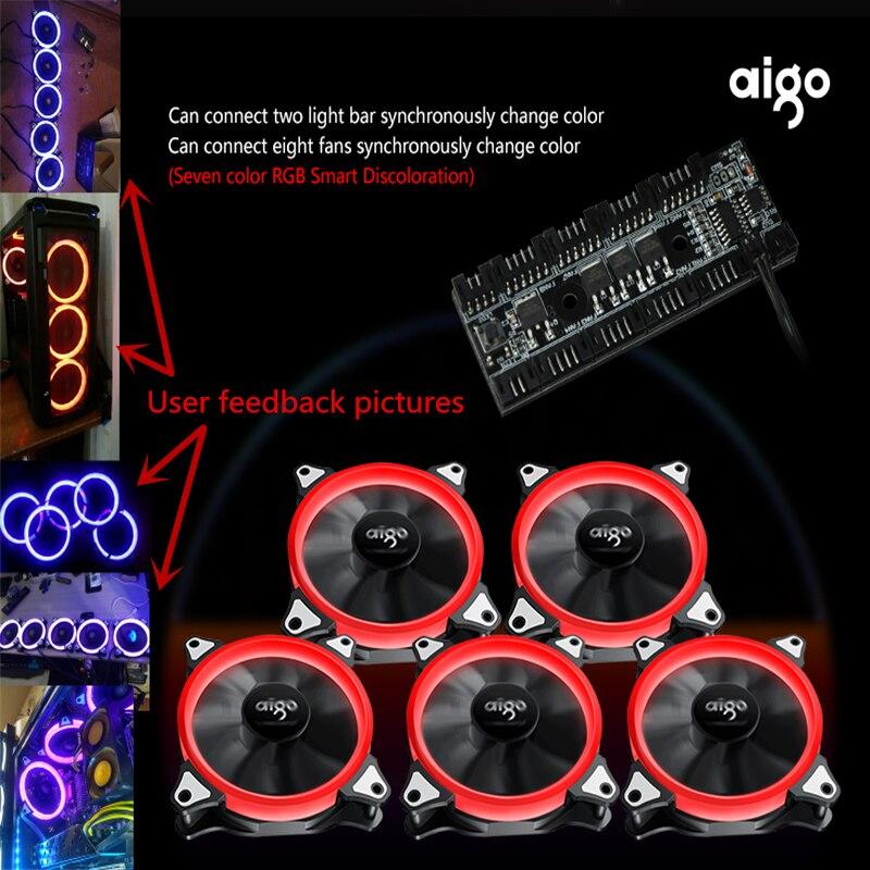 Aigo fan octave space R5 computer desktop RGB fan ...