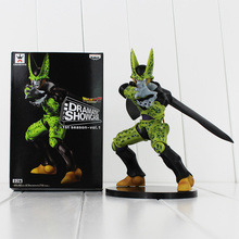 100% New Banpresto Dramatic Showcase Dragon Ball Z Cell PVC Action Figure Toy Collective Model Toy 18cm