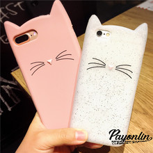 "3D Cute Cartoon Cat Case Cover for Coque iPhone 7 7 plus 6 6s 4.7 inch 6 6s Plus 5.5"" Soft Silicone Phone Case Accessories(China)"
