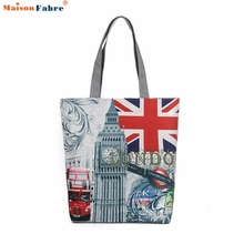 London Big Ben Canvas Tote Casual Beach Bags Women Shopping Bag Handbags Comfystyle