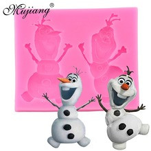 DIY Silicone Mold Frozen Olaf Cake Tools Christmas Wedding Cake Decorating Tools Fondant Chocolate Soap Molds Kitchen Baking