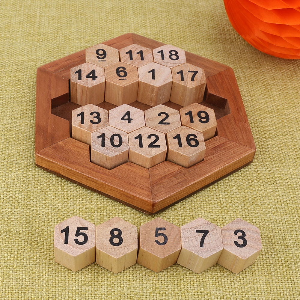 Children Wooden Number Board Kid Brain Teaser Math Game Montessori