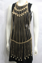 Women Gold Metal Full Body Chains Fashion Jewelry Harness Extra Dress Necklace