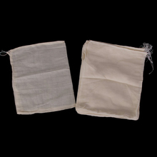 FJS-20 Reusable Nut Milk Strainer Filter bag for Juice tea Fruit juice in Cotton mesh 25 X 20cm(China)