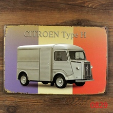 """Citroen Type H"" Vintage Metal Tin Signs Retro Tin Plate Sign Wall Decoration for Cafe Bar Shop and Restaurant Neon Beer Signs"