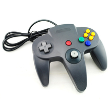Wired USB Controller For Nintend N64 Joystick Games Wired Gamepad Joypad For Gamecube Controle For N64 PC For Mac Black Gamepad(China)
