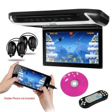 "New Arrival XTRONS Black 10"" HD Digital TFT Monitor Car Roof DVD Player with two free IR Headphones"